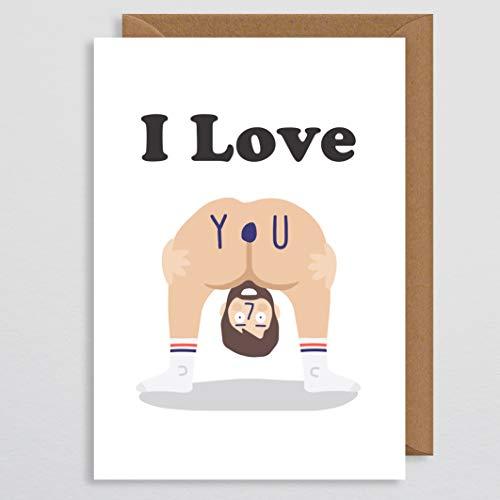 Valentijnskaart Grappige Rude - Naakte Kaart - Bum - LOL - Ondeugende Valentijnskaart - Grappige Valentijnskaart - voor haar - Vriendin - Vrouw - Paar - Partner - Rude Verjaardagskaart - Ik hou van je - Cheeky