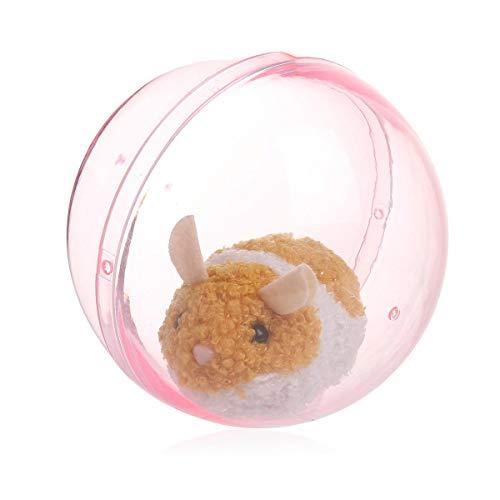 MOGOI Hamster-Ball, Der Im Laufenden Ball, Elektronisches Haustierspielzeug des Kindes, Glückliches Spaß-Plüsch-wechselwirkendes Gleitendes Hamster-grabschendes Puppen-Tierbaby-Spielzeug Rollt