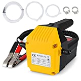 HONGNAL 80w Oil Change Pump Extractor Electric with 6.56ft Outlet Pipe 12V Oil Extractor Pump Marine for Changing Diesel Fluid Scavenge Suction Oil Transfer Pump Kits for Jet Ski, Truck, RV, ATV, Boat