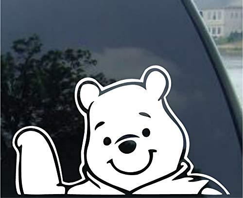"Crawford Graphix Winnie Pooh Disney Decal Car Truck Window Sticker (6"" White)"