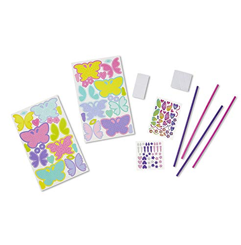 Melissa & Doug Simply Crafty Whimsical Wands Kit With Stickers, Pre-Cut Shapes, Foam Sticky Tabs (Great Gift for Girls and Boys - Best for 4, 5, 6, 7, 8 Year Olds and Up)