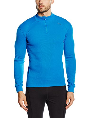 Odlo Herren l/s Turtle Neck 1/2 Zip Warm Langarmshirt, Blau (Directoire Blue), L