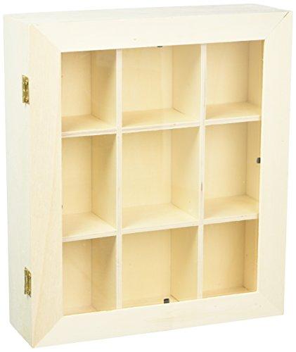 Midwest Design Sperrholz Shadow Box mit Plexiglas-Tür, Mehrfarbig