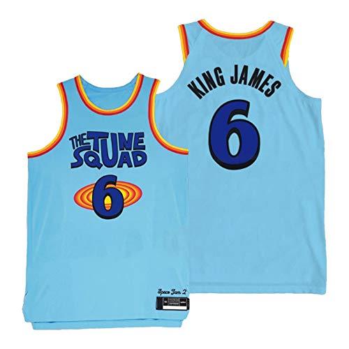 YPKL King LeBron James - Camiseta de baloncesto para hombre, 2021 New Season Lakers #6, unisex, sin mangas, ropa deportiva de entrenamiento (S-2XL) M