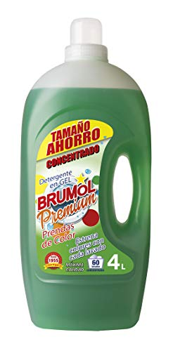Brumol Color Premium Gel wasmiddel, 60 wasbeurten, 4-pack (4 x 4000 ml) - in totaal 16000 ml