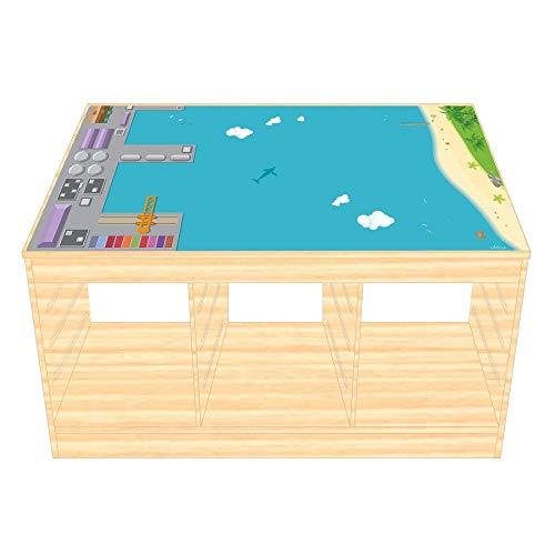 Spel folie/Meubelfilm voor IKEA TROFAST Holz Port Sticker Kwekerij Games Tafel (Meubels niet inbegrepen) Eenvoudig aan te brengen en verwijderbaar
