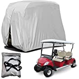 BOSKING Fundas para carrito de golf para 4 pasajeros, impermeables, 210D, Oxford, a prueba de polvo, para carros de golf EZ GO Club, Yamaha (plata, S: 242 x 122 x 168 cm)