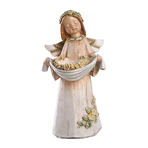 wksee Dekorative Skulptur Statue Ornament Statuen Kreative Engel Modell Kerzenhalter Home Room Party Dekor Harz Engel Kerzenhalter Figur Aufbewahrungshalter Geburtstagsgeschenke
