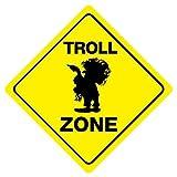 WallAdorn Troll Zone Eisen-Poster Blechschild,