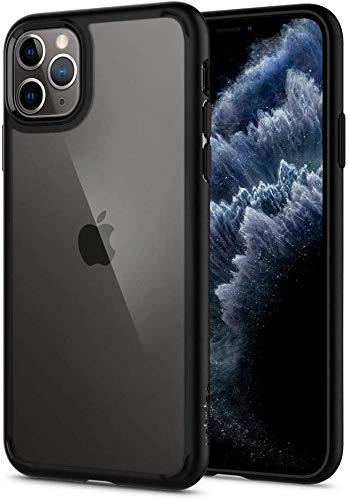 Spigen Ultra Hybrid Kompatibel mit iPhone 11 Pro Hülle, Einteilige Transparent PC Rückschale Handyhülle für iPhone 11 Pro Case Matte Black 077CS27234
