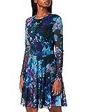Desigual Vest_QAIS Vestido Casual, Azul, XL para Mujer