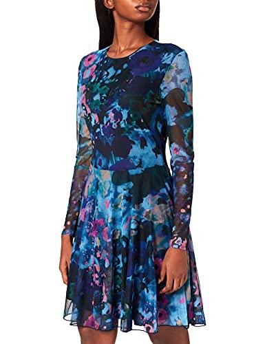 Desigual Damska sukienka Vest_qais Casual, niebieski, XL