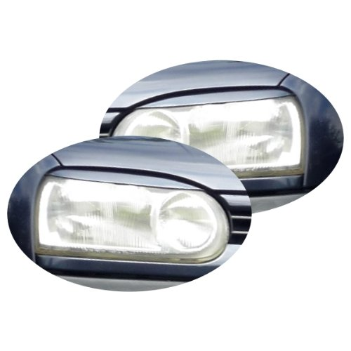 Akhan ATSBLGOLF3 SBLGOLF3 - Scheinwerferblenden Set Böser Blick geeignet für VW Golf 3