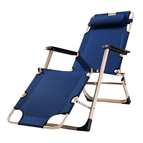 Household Tuinstoel, Old Pause, Lunchpauze, klapstoel, ontvangst, binnenruimte, Reclining Rocks, campingstoel, multifunctioneel, strandstoel, capaciteit: 93*52*92CM Blauw