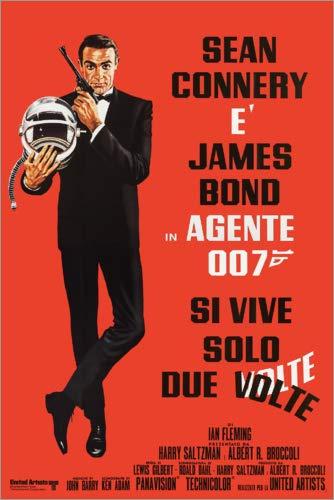 Posterlounge Stampa su Vetro Acrilico 40 x 60 cm: You Only Live Twice (Italian) di Entertainment Collection