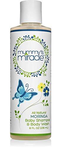 Beruhigendes hypoallergenes, vollkommen natürliches Mummy's Miracle Moringa Baby Shampoo und Waschmittel, 237 ml