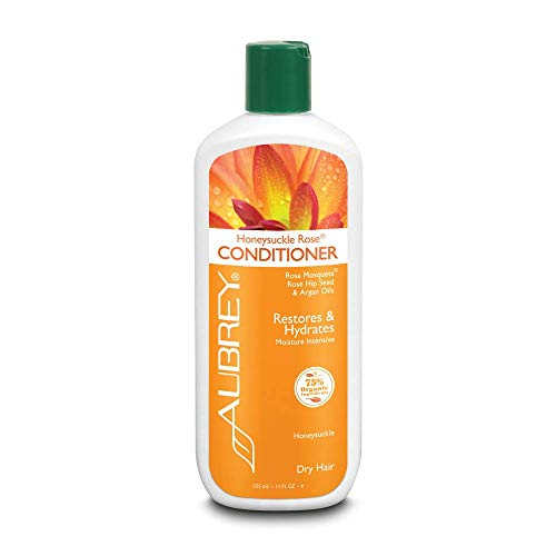 Aubrey Organics, Moisturizing Conditioner, Honeysuckle Rose, Dry Brittle, 11 fl oz (325 ml)