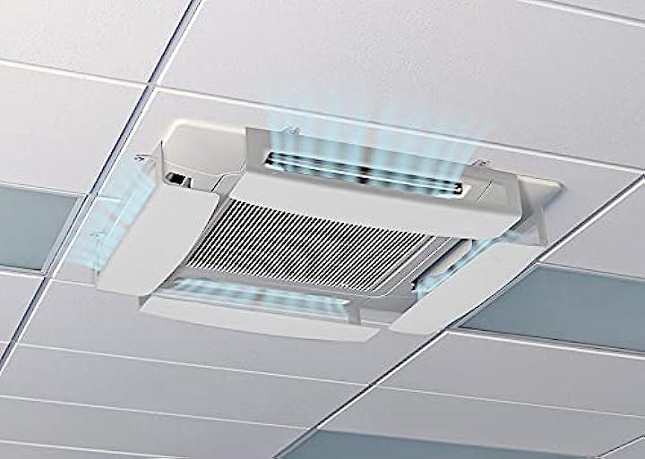 Condizionatore & aria condizionata a cassetta climik quadro, kit da 4 deflettori in plastica climik B072KNMRT3