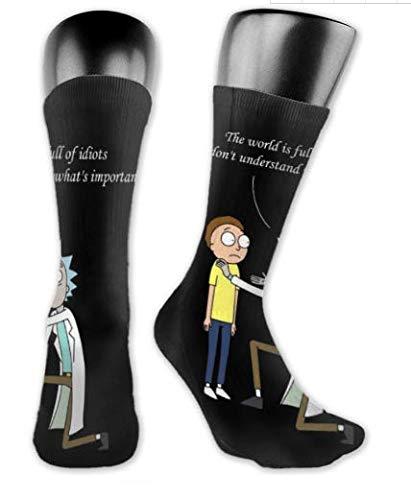 Yesbnow Calcetines cortos Rick&Morty Socks,Cotton High Ankle Socks Christmas Socks