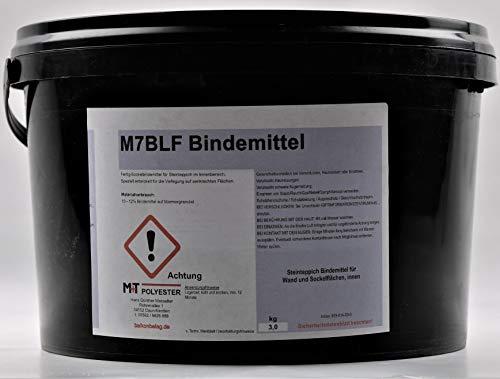 1 KG M7BLF Bindemittel Sockel Wand Fussleiste Stosstritt Steinteppich und Treppe für Innen
