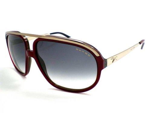 Oxydo X Ottanta 1 - Gafas de sol de aviador, color burdeos sobre negro B06 JJ