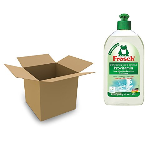 Frosch Unscented Sensitive Provitamin Hand Soap Dishwashing Liquid, Free & Clear, 500 ml (Case of 8)