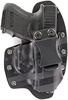 Infused Kydex USA: Stealth Black USA IWB Hybrid Concealed Carry Holsters for More Than 200 Different Handguns. Left & Right Versions Available.