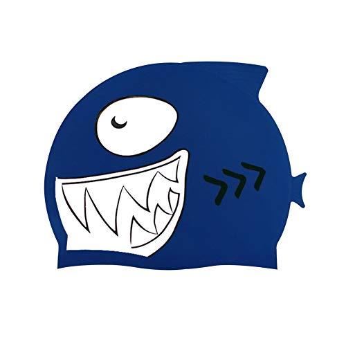 Fattigger Kinder Kinder s¨¹?e Carton Shark wasserdicht Schwimmen Hut Haarschutz Tauchm¨¹TZE