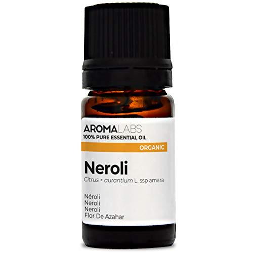 Aroma Labs Neroli Bio - 5Ml - Olio Essenziale Bio E Naturale Al 100% - Qualità Verificata Mediante Cromatografia - Aroma Labs - 5 ml