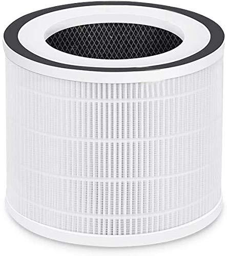 HIMOX Luftreiniger mit APP Steuerung Ersatzfilter Hocheffizienter H13 HEPA Medical Grade Filter und Aktivkohlefilter Set für Luftreiniger Allergie mit Smart Luftqualität Sensor HIMOX-H06