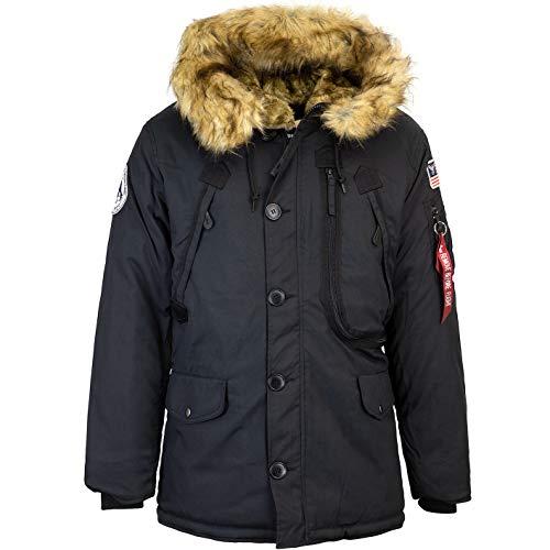 ALPHA INDUSTRIES Polar Jacket Parka (L, Black)