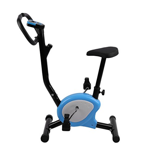 Homgrace Bicicleta Estática Plegable para Fitness con Magnético, MAX del Usuario hasta 100 kg Naranja (Azul)