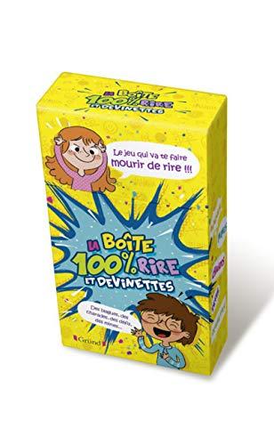 Boîte 100% Rires et Devinettes – Boîte de jeu avec des devinettes, défis, mimes et des énigmes– À partir de 7 ans
