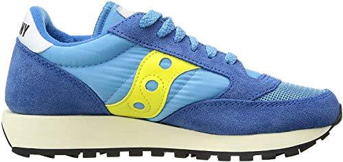Saucony Jazz Original Vintage, Sneaker Donna, Blu (Blue/Yellow 62), 39 EU