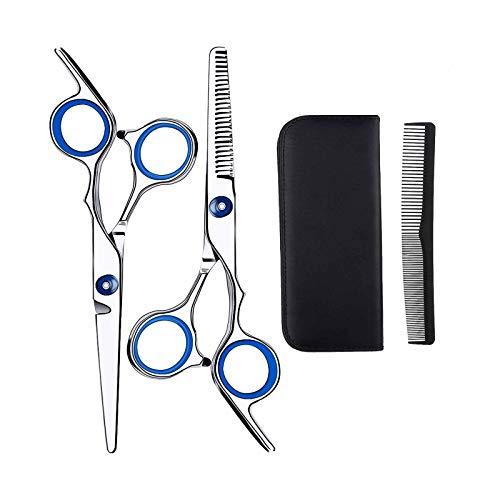 Ciseaux Coiffure Cheveux Professionnel, Anself 2pcs Ciseaux de Coiffure 6,7 Pouces, Kit Ciseaux Coiffure en Acier Inoxydable pour Coupe de Cheveux Bricolage Domicile Salon