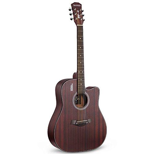 Contatta la voce chitarra Chitarra acustica vintage Chitarra per principianti Chorus maschile e femminile Strumenti economici Chitarra pratica (Color : Brown, Size : 39cm*20cm*104cm)