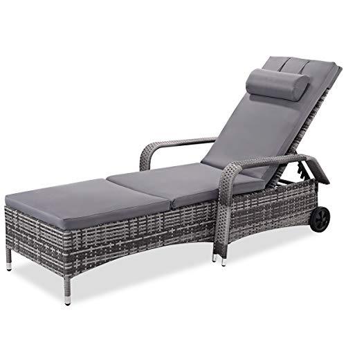 Tangkula Patio Chaise Lounge Chair