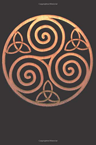 Triskelion Symbol: Blank Lined Notebook, Journal or Diary