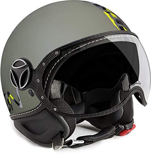 LOGICO DESIGN SRL Momo-Helm Fighter FGTR Evo titan matt Doppel Visier Gr/ö/ße M