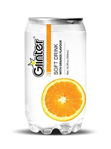 Glinter Softdrink Erfrischungsgetränk, Inkl. 6 Euro EINWEG Pfand ( 24 X 350ml) (Orange)