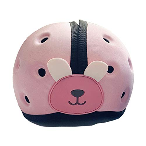 RK-HYTQWR Protector de Cabeza para bebés y niños pequeños Casco de Seguridad Suave para niños pequeños Protección para la Cabeza, Sombrero de bebé, Rosa