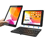 New Trent iPad 8th Generation Keyboard Case, iPad 7th Generation Keyboard Case, Keyboard for iPad 10.2-Inch 8th Gen, 7th Gen - Detachable Durable Rugged iPad 10.2 case with Real Keyboard