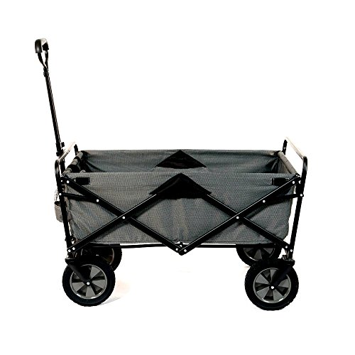 unknown folding wagons Collapsible Folding Steel Frame Outdoor Garden Utility Wagon Cart Strong Steel Frame Construction - Skroutz Deals