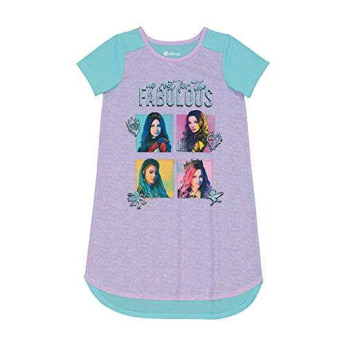 Disney Girls' Big Descendants Nightgown, NO Rest for The Fabulous, 12