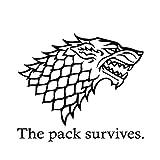 SUPERSTICKI The Pack Survives STARK Game of Thrones 20cm Aufkleber,Autoaufkleber,Wandtattoo,Sticker...