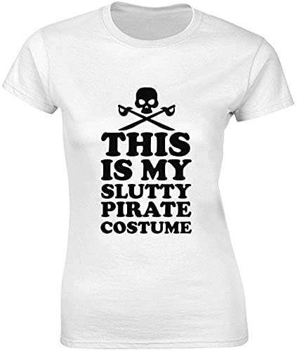 This is My Slutty Pirata Disfraz de Calavera Pirata Diseño Camiseta Mujer Bnft