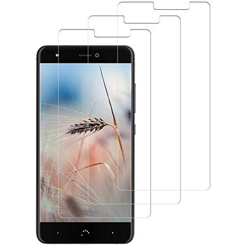 SNUNGPHIR Schutzfolie für BQ Aquaris X Panzerglas [3 stück], [Anti-Kratzer/Anti-Öl][Einfache Installation][Blasenfrei Transparent][3D Touch/9H Festigkeit] BQ Aquaris X Panzerglasfolie Bildschirmschutzfolie