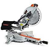 "VonHaus Sliding Mitre Saw 255mm (10"") 2000W -Single Bevel, Powerful Performance with +45°"