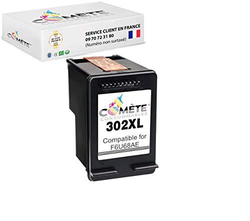 COMETE 302XL 1 Cartouche d'Encre Compatibles pour HP 302 XL 302 302XL pour imprimante HP DESKJET 1110 2132 2134 3630 3631 3632 3633 3634 3638 HP Envy - 1 Noir (F6U68AE)