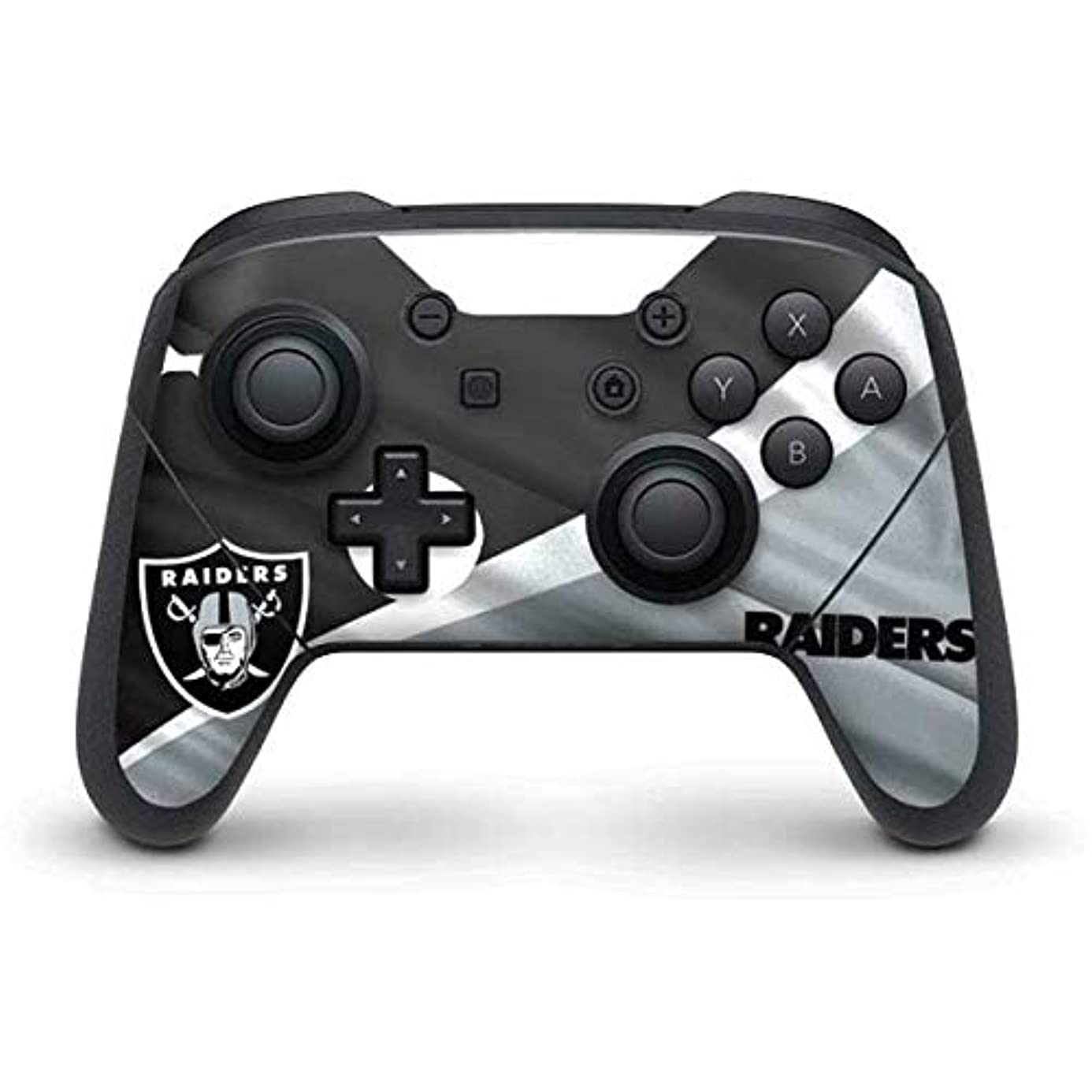 Skinit Oakland Raiders Nintendo Switch Pro Controller Skin - Officially Licensed NFL Gaming Decal - Ultra Thin, Lightweight Vinyl Decal Protection